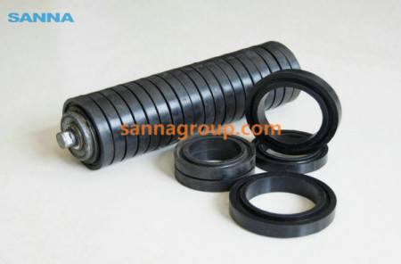 Rubber lagging roller3-conveyor idler,pulley,belt manufacturer-SANNA