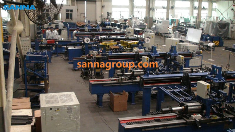 Roller production workshop1-conveyor idler,pulley,belt manufacturer-SANNA