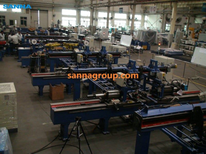 Roller production workshop2-conveyor idler,pulley,belt manufacturer-SANNA