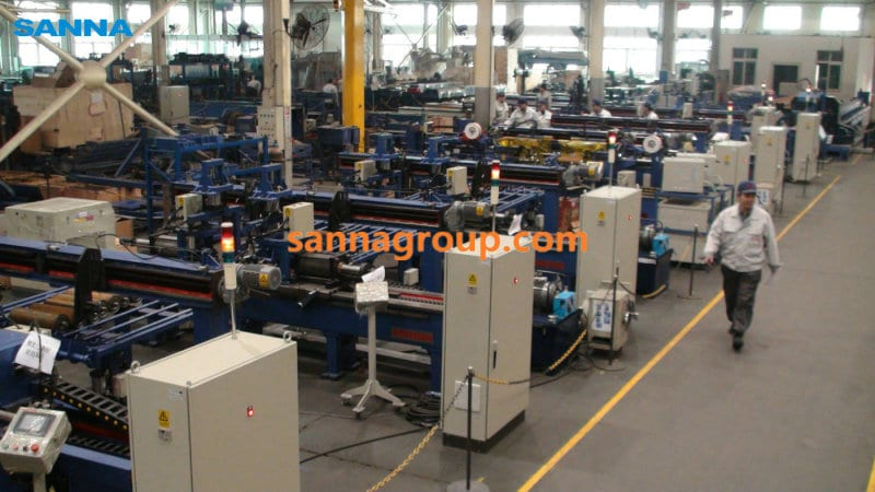 Roller production workshop3-conveyor idler,pulley,belt manufacturer-SANNA