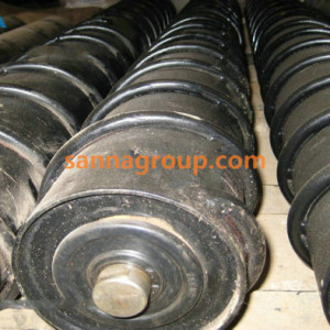 self-cleaning conveyor roller 5-conveyor idler,pulley,belt manufacturer-SANNA